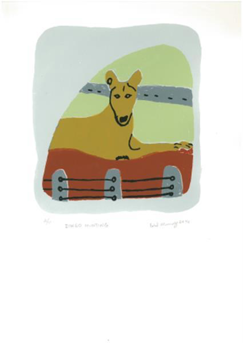 (CreativeWork) Dingo Hunting 10/15 (Limited Edition Screen Print) by Ethel Murray. other-media. Shop online at Bluethumb.