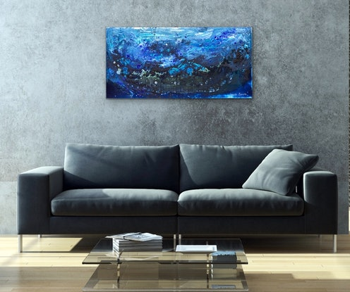 (CreativeWork) Stormy Seas  by Janelle Bowra. Acrylic Paint. Shop online at Bluethumb.