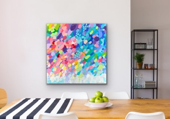 (CreativeWork) Kaleidoscope  by Janelle Bowra. Acrylic Paint. Shop online at Bluethumb.
