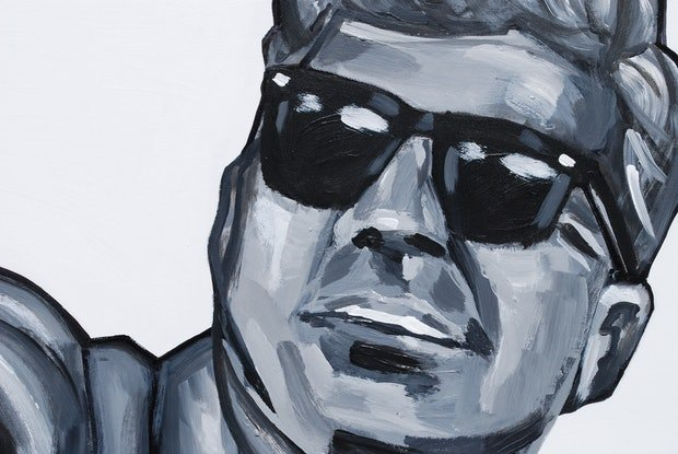 (CreativeWork) 35 - Jack Kennedy  by Hunter Beaucanon. Acrylic Paint. Shop online at Bluethumb.