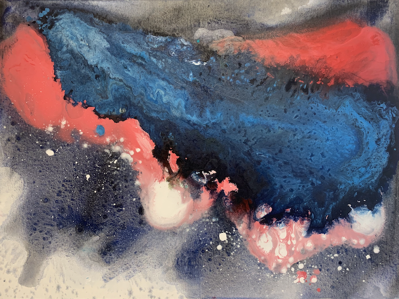 (CreativeWork) Eye of the storm *30% off sale* by Janelle Bowra. Acrylic Paint. Shop online at Bluethumb.