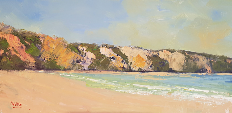 (CreativeWork) Rainbow Beach High Noon by Rod Moore. Acrylic Paint. Shop online at Bluethumb.