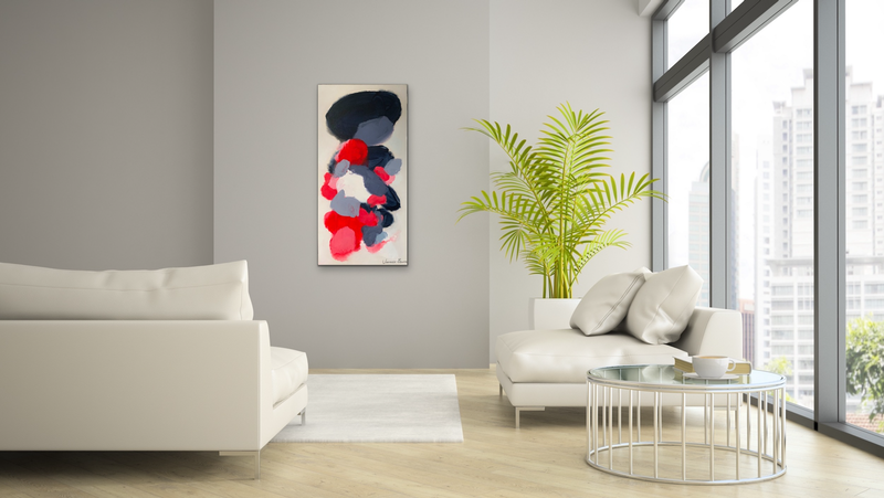 (CreativeWork) Mother and child by Janelle Bowra. Acrylic Paint. Shop online at Bluethumb.