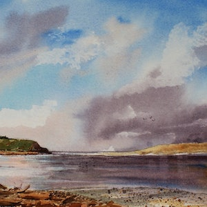 (CreativeWork) Fortrose New Zealand  by Ajay Lack. watercolour. Shop online at Bluethumb.