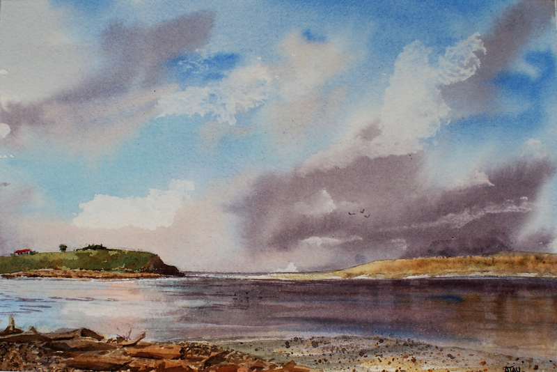 (CreativeWork) Fortrose New Zealand  by Ajay Lack. Watercolour Paint. Shop online at Bluethumb.