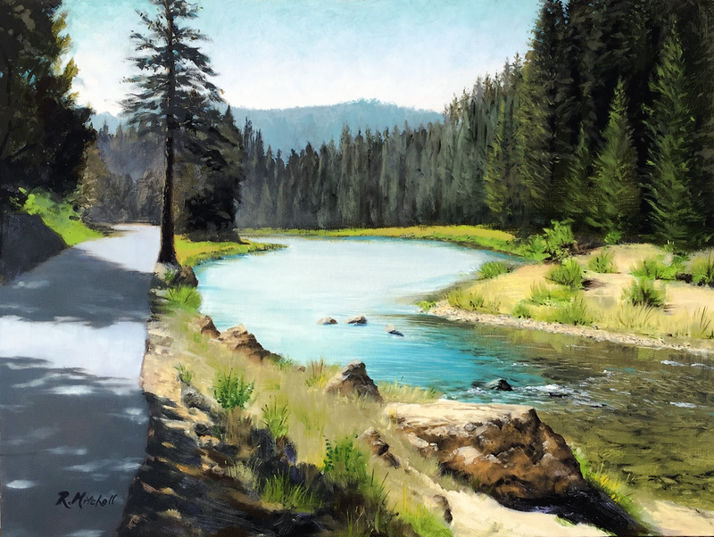(CreativeWork) Lake Tahoe by Raynette Mitchell. Oil Paint. Shop online at Bluethumb.