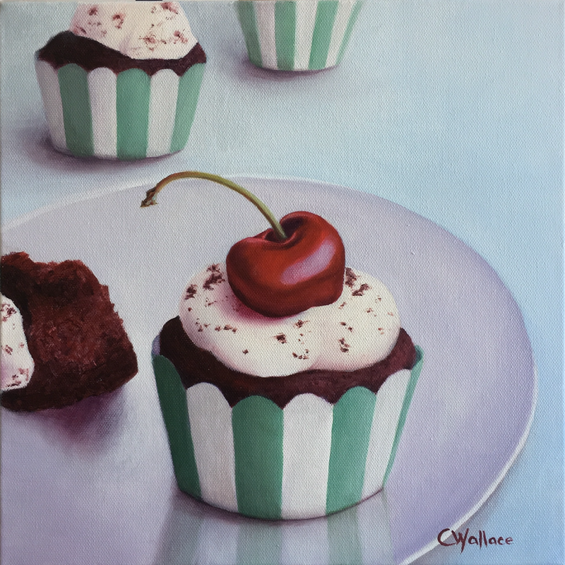 (CreativeWork) Chocolate Cherry by Catherine Wallace. Oil Paint. Shop online at Bluethumb.