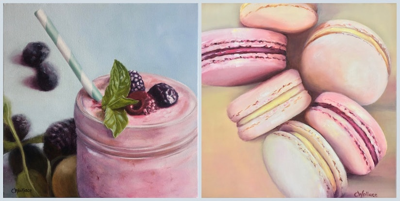(CreativeWork) Berry Smoothie by Catherine Wallace. Oil Paint. Shop online at Bluethumb.