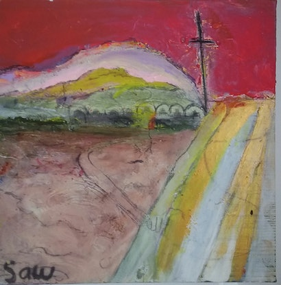(CreativeWork) The road to lithgow by Benjamin Saw. Acrylic Paint. Shop online at Bluethumb.