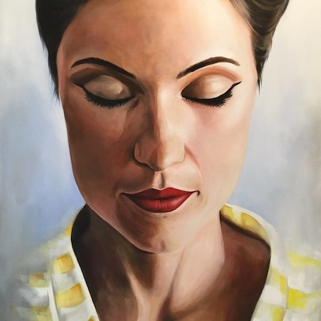 (CreativeWork) Introspective  by Craig Brown. Acrylic Paint. Shop online at Bluethumb.