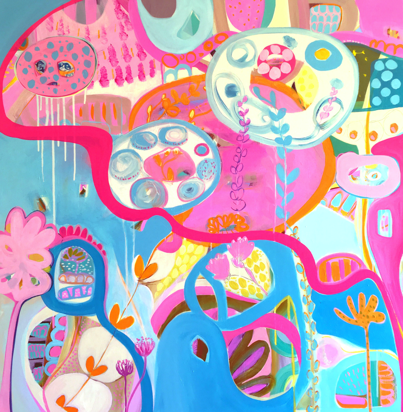 (CreativeWork) I Love Candy by Sarah Morrow. Acrylic Paint. Shop online at Bluethumb.