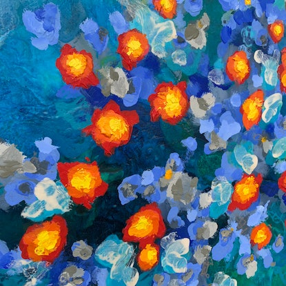 (CreativeWork) Reef Series #5  by Janelle Bowra. Acrylic Paint. Shop online at Bluethumb.