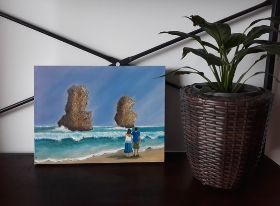 (CreativeWork) 12 Apostles by Sudha Palani. Acrylic Paint. Shop online at Bluethumb.