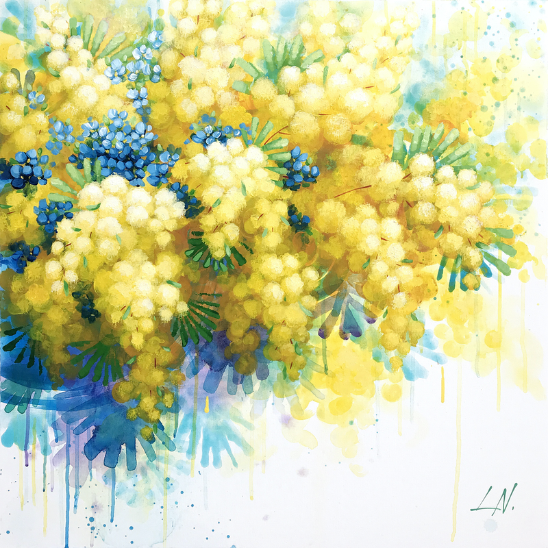 (CreativeWork) TENDER TOUCH by Lily Nova. arcylic-painting. Shop online at Bluethumb.