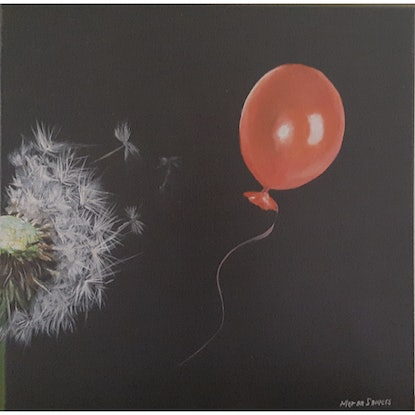 (CreativeWork) DANDELION AND BALLOON by MERON SOMERS. Acrylic Paint. Shop online at Bluethumb.