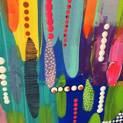 (CreativeWork) URBAN JUNGLE 2 by Clare Holland. Acrylic Paint. Shop online at Bluethumb.