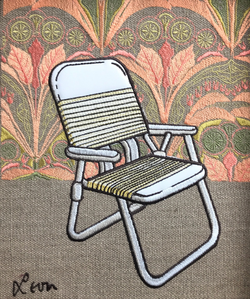 (CreativeWork) Folding Chair by Leon Fernandes. other-media. Shop online at Bluethumb.