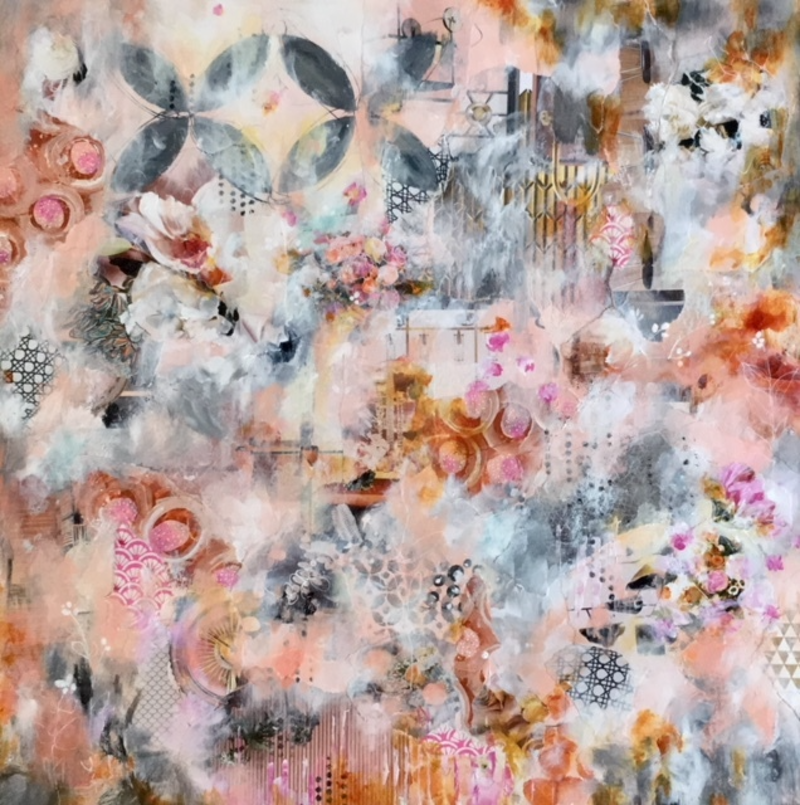 (CreativeWork) A Chance Encounter by Tanya Brown. Mixed Media. Shop online at Bluethumb.