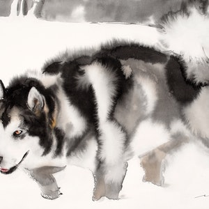 (CreativeWork) Alaskan Malamute by Soo Beng Lim. drawing. Shop online at Bluethumb.