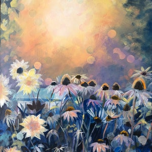 (CreativeWork) Sunrise by Alison Pilcher. arcylic-painting. Shop online at Bluethumb.