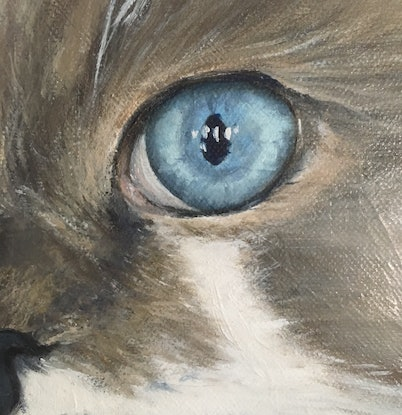 (CreativeWork) Pet Portraits by Janet Claydon. Oil Paint. Shop online at Bluethumb.