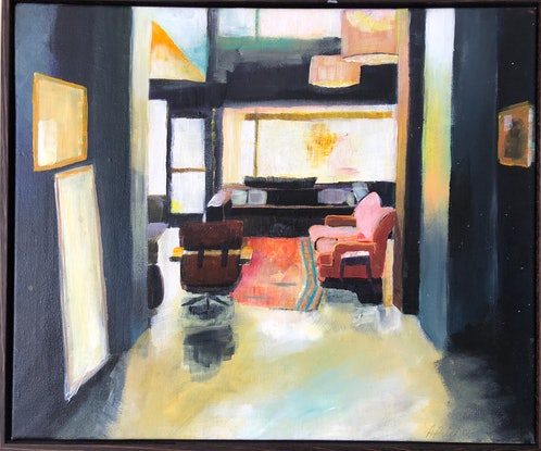 (CreativeWork) Black room by Alison Pilcher. Acrylic Paint. Shop online at Bluethumb.