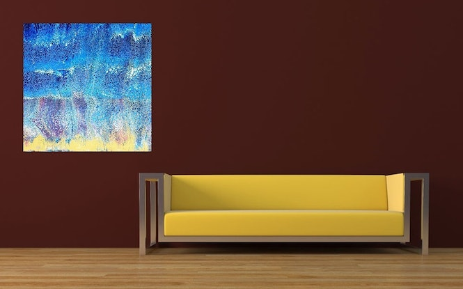 (CreativeWork) Watching the waves by Steve Perryman. Acrylic Paint. Shop online at Bluethumb.