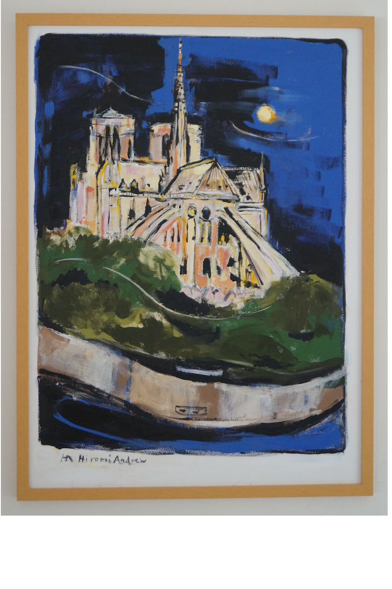 (CreativeWork) NIGHT OUT IN PARIS by Hiromi Andrew. Mixed Media. Shop online at Bluethumb.