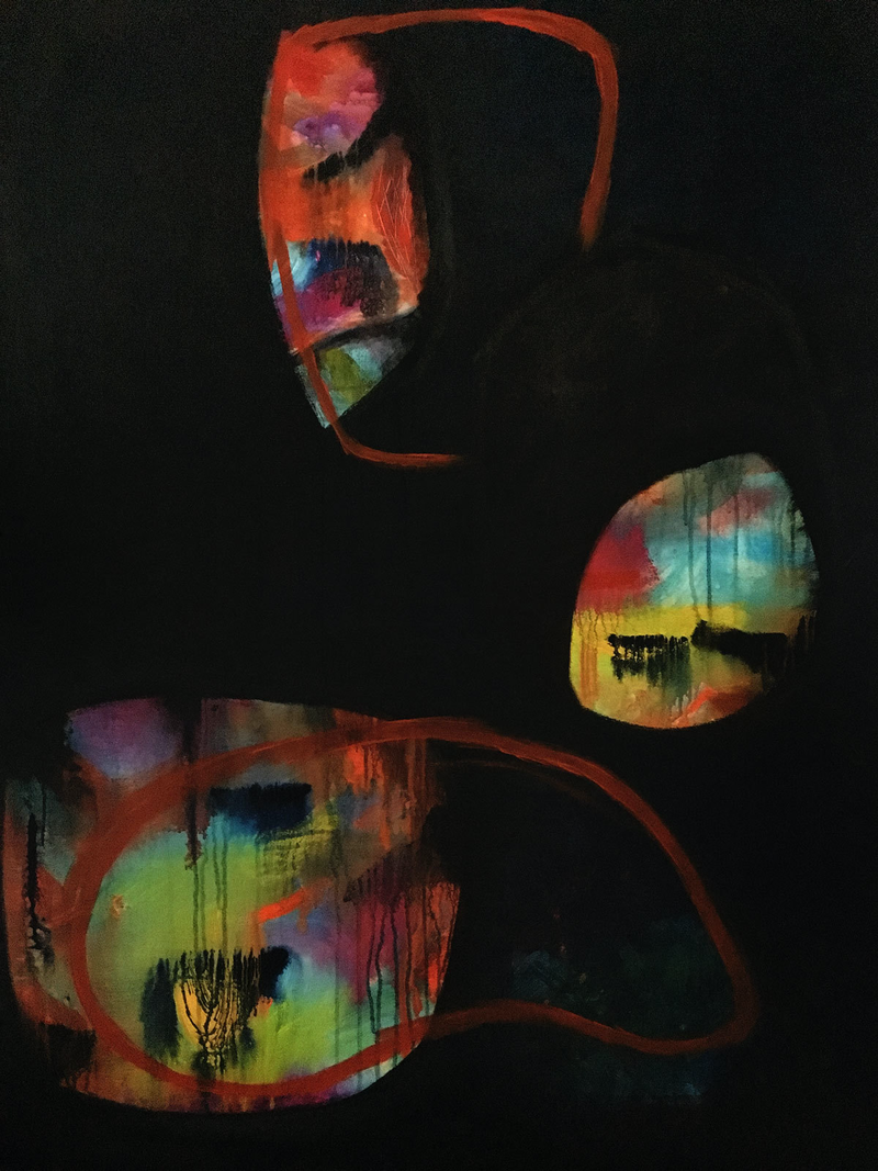(CreativeWork) Partial Eclipse by Jo Roszkowski. Acrylic Paint. Shop online at Bluethumb.