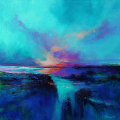 (CreativeWork) GREAT SOUTHERN SKIES by Sandra Michele Knight. Acrylic Paint. Shop online at Bluethumb.