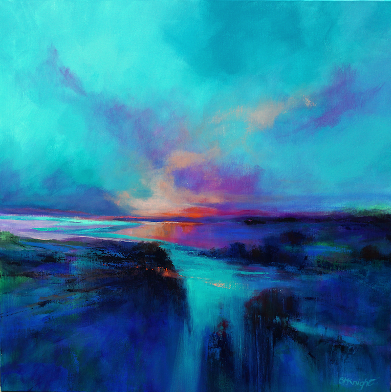 (CreativeWork) GREAT SOUTHERN SKIES by Sandra Michele Knight. arcylic-painting. Shop online at Bluethumb.