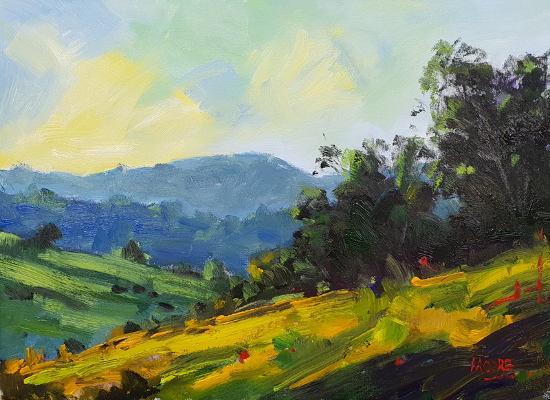 (CreativeWork) Noosa Hinterland Trails by Rod Moore. Acrylic Paint. Shop online at Bluethumb.