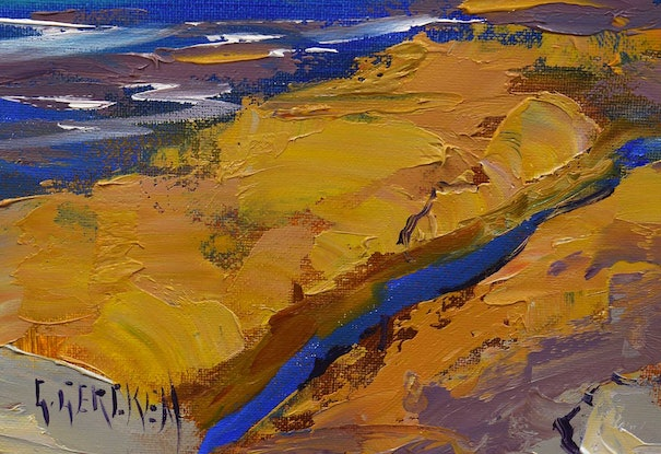 (CreativeWork) Colours of Jervis Bay by Graham Gercken. Oil Paint. Shop online at Bluethumb.