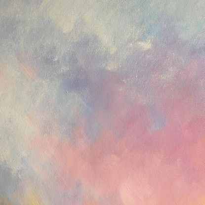 (CreativeWork) A brand new day #13 by Liliana Gigovic. Oil Paint. Shop online at Bluethumb.