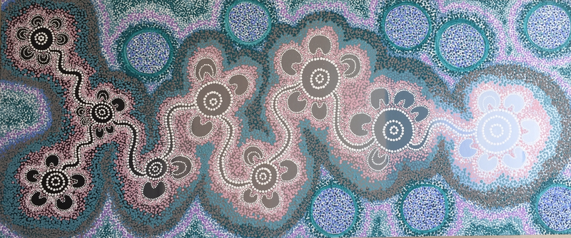 (CreativeWork) Aboriginal dot painting  Life's Journey  by gidabul doobay. Acrylic Paint. Shop online at Bluethumb.