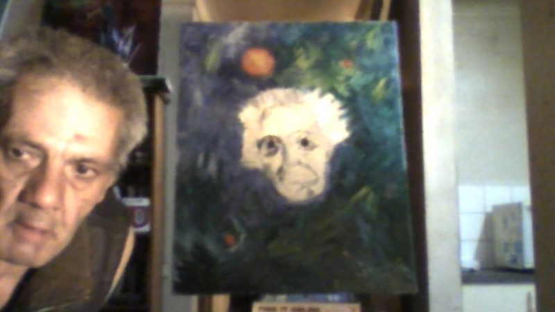 (CreativeWork) PHYSICIST ALBERT EINSTEIN by GIULIO IACOBINI. Oil Paint. Shop online at Bluethumb.