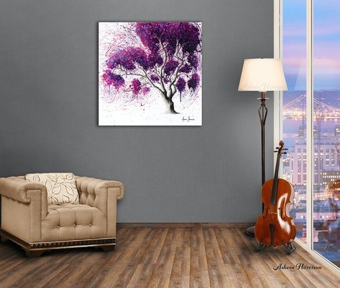 (CreativeWork) Southern Dream Tree by Ashvin Harrison. Acrylic Paint. Shop online at Bluethumb.