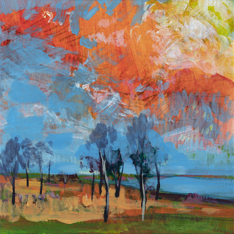 (CreativeWork) Gumtrees by the Waters Edge - LIMITED EDITION (H23cm x (W)23cm Ed. 2 of 50 by Scott Neil. Print. Shop online at Bluethumb.