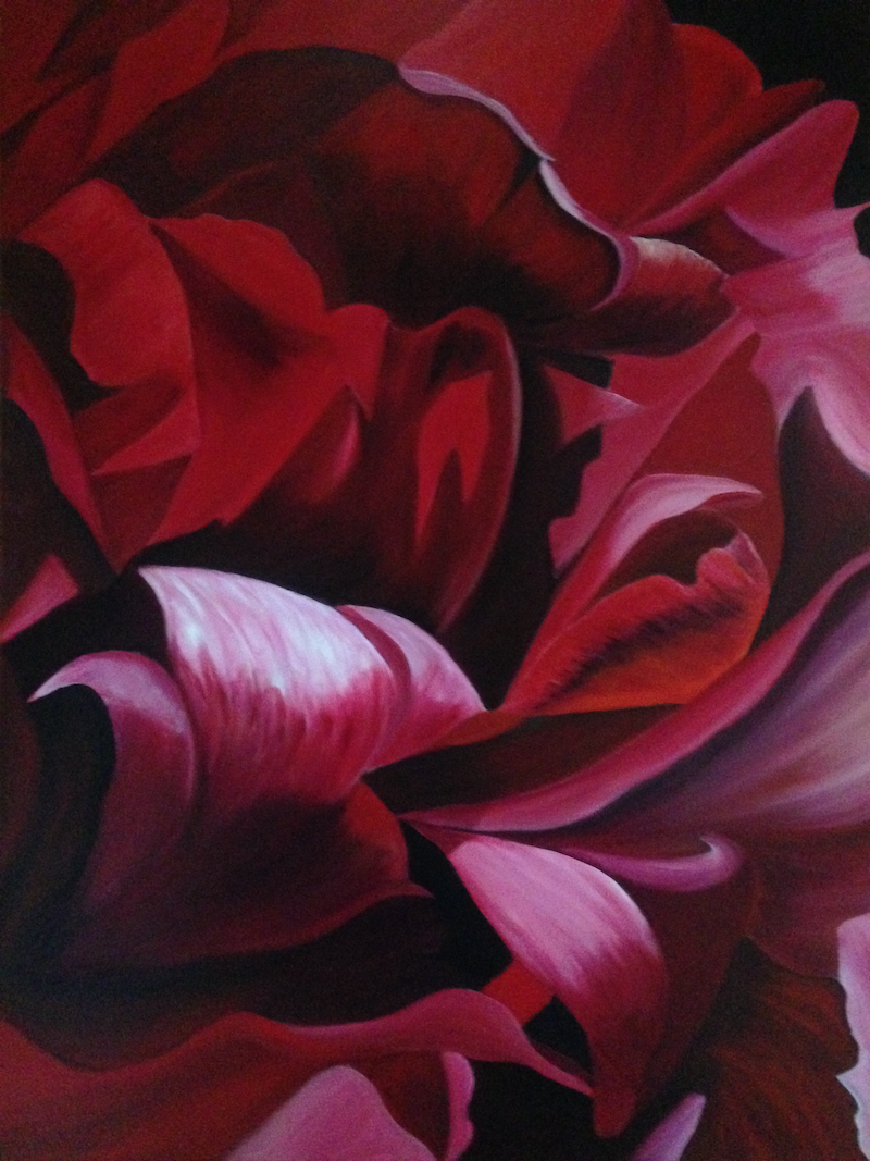 (CreativeWork) Red Fire by Sharon Lagden. Acrylic Paint. Shop online at Bluethumb.