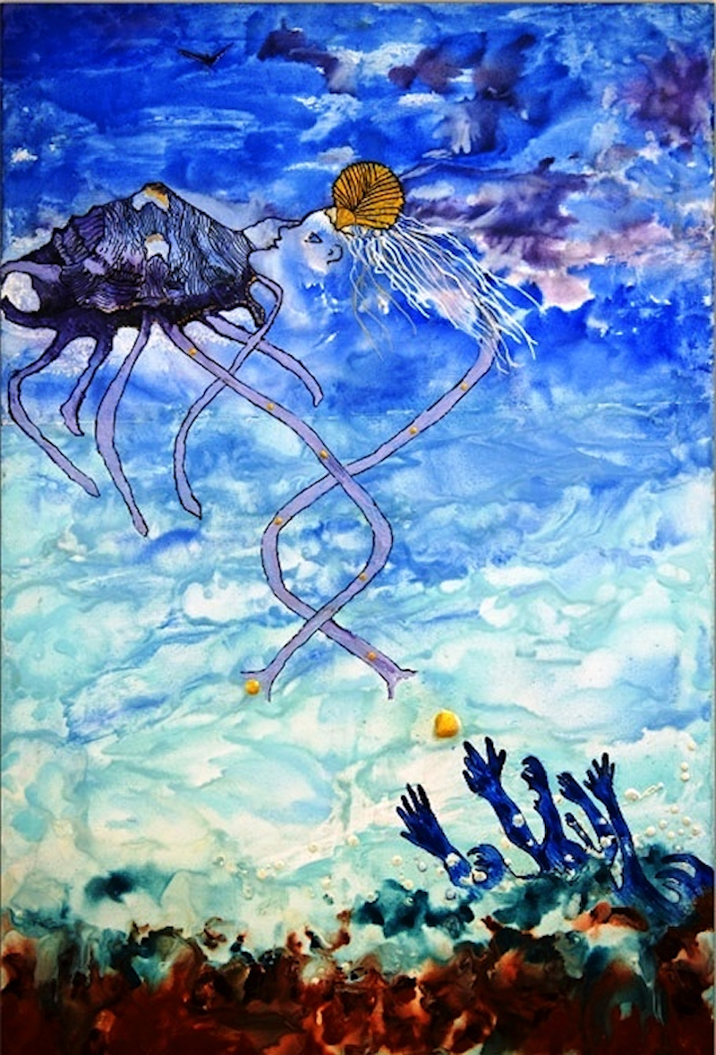 (CreativeWork) Blessings Of The Shell Angel by Trudie Moore. Other Media. Shop online at Bluethumb.