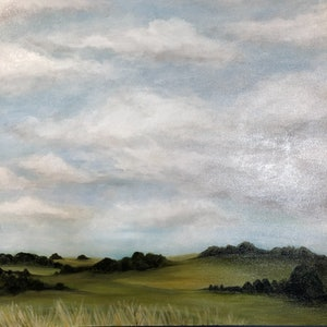 (CreativeWork) Backroad to Exeter by Selenia Costanzo. arcylic-painting. Shop online at Bluethumb.