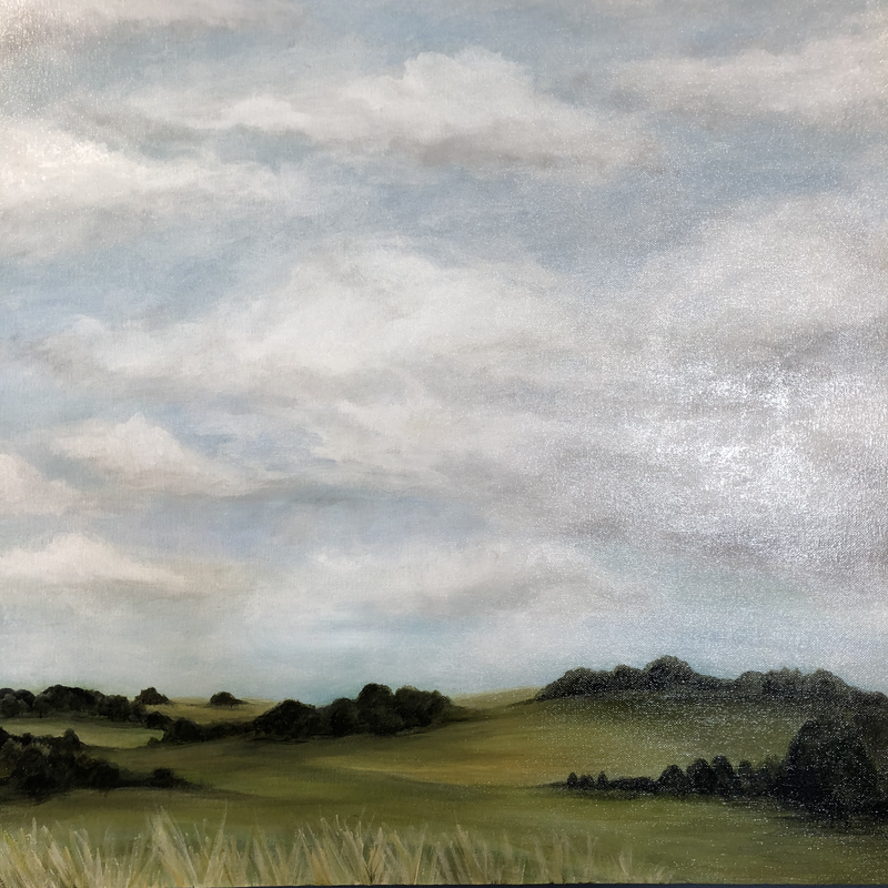 (CreativeWork) Backroad to Exeter by Selenia Costanzo. Acrylic Paint. Shop online at Bluethumb.