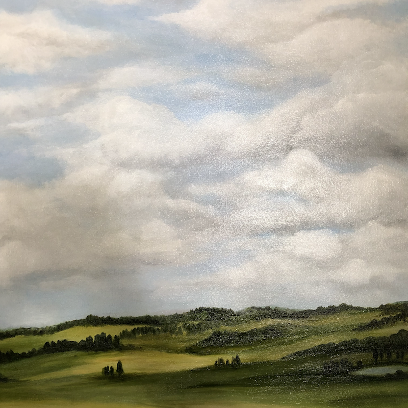 (CreativeWork) Highlands Countryside No.2 by Selenia Costanzo. Acrylic Paint. Shop online at Bluethumb.