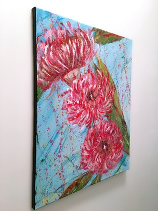 (CreativeWork) PERFECT TIME ALONE - Eucalyptus Blossoms  - Ready To Hang by HSIN LIN. Acrylic Paint. Shop online at Bluethumb.