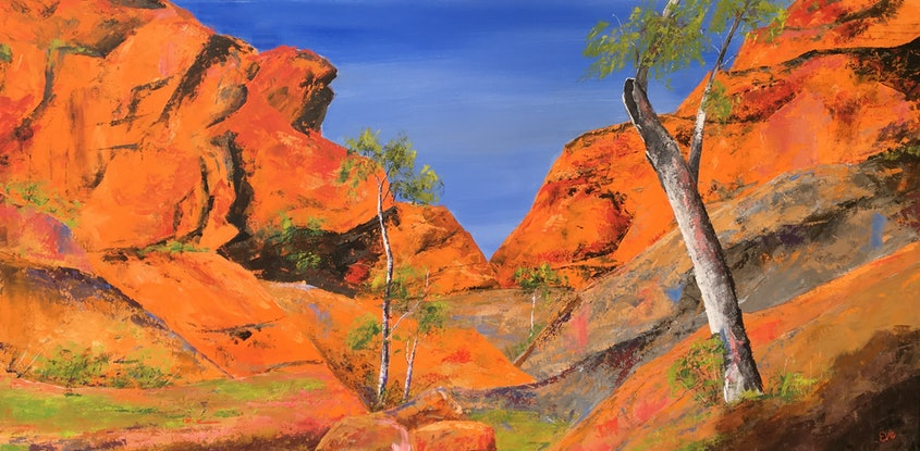(CreativeWork) Bluff by Eve Sellars. Acrylic Paint. Shop online at Bluethumb.