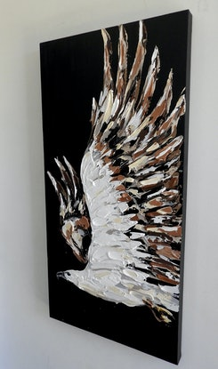 (CreativeWork) White Bellied Sea Eagle  by Lisa Fahey. Acrylic Paint. Shop online at Bluethumb.