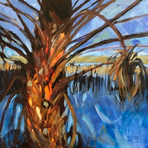 (CreativeWork) Halfway there by Kate Gradwell - Landscapes. arcylic-painting. Shop online at Bluethumb.