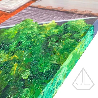 (CreativeWork) Rainbow Over Marrickville by Jo Lillicot. Oil Paint. Shop online at Bluethumb.