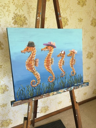 (CreativeWork) Family Outing by Winton Bochanowicz. Acrylic Paint. Shop online at Bluethumb.