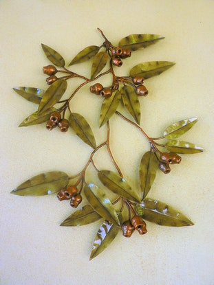 (CreativeWork) Marri branch - large wallhanging by Wayne Jeffery. Other Media. Shop online at Bluethumb.